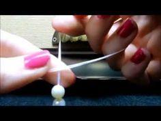 Tutorial pulsera de perlas con nudos. - YouTube