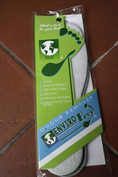 Enviro Feet Odour remover inners soles  has special absorbent materials which is proven to help your feet from sweating and smelling. The latter will result in effective odor removal and it can be placed in most shoes; from gumboots to running shoes. It is washable, long lasting and a real treat for your feet. Visit us at www.janecor.co.za