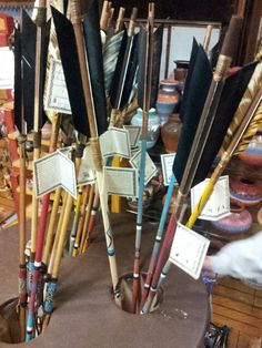 Hand crafted authentic native American arrows.