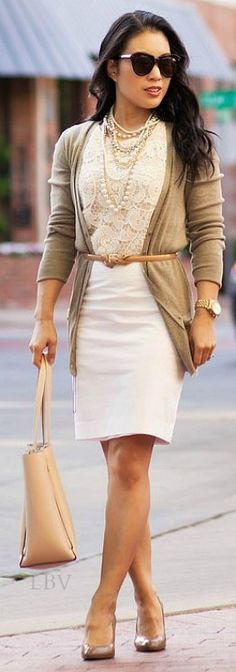 Street Style ♥✤ Lace and Pearls   LBV
