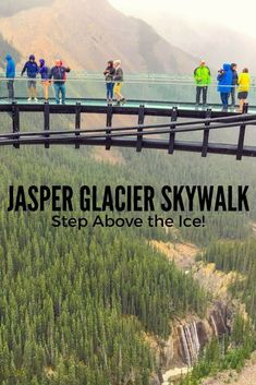Imagine stepping out from a solid sidewalk onto a see thru walkway. With nothing standing between you and a 918 foot drop to the river bed below but a piece of glass! This exhilarating experience is what the Jasper Glacier Skywalk is all about! Alberta Canada, Banff Canada, Canadian Travel, Canadian Rockies, Travel Guides, Travel Tips, Places To Travel, Travel Destinations, Sky Walk