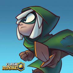 bandit of clash royale by ninjakimm Clas Of Clan, Boom Beach, Dragon City, Xbox 1, Cinema 4d, Game Art, Card Games, Memes, Anime