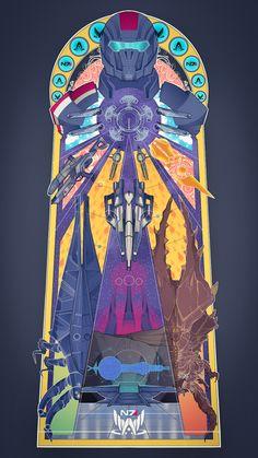 'Shepard's Journey' Poster by Lazare Gvimradze Mass Effect Tattoo, Mass Effect 1, Mass Effect Universe, Mass Effect Poster, Star Citizen, Alien Spaceship, Commander Shepard, Fan Art, Dragon Age