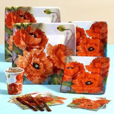 orange poppies...love this!