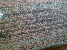 crocheted rag rug oval shaped