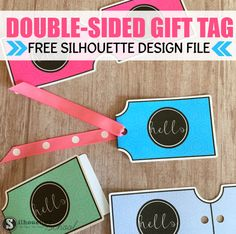 Free Double Sided Gift Tag Silhouette Design File