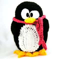 A free pattern for a large huggable amigurumi penguin!