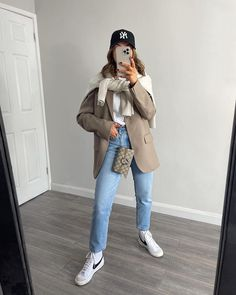 Nike Blazers Outfit, Blazer Outfits Casual, Blazer Outfits For Women, Cute Casual Outfits, Sport Chic, Winter Fashion Outfits, Closet, Summer, Inspiration