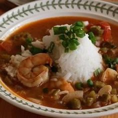 Okra, shrimp, and a variety of sauteed vegetables are used to create a thick stew, even without the dark roux found in traditional gumbo recipes.
