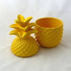 Ceramic Pineapple Storage Jar or Home Kitchen Decor Accent ...