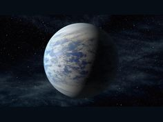 This artist's concept depicts Kepler-69c, a super-Earth-size planet in the habitable zone of a star like our sun, located about 2,700 light-years from Earth in the constellation Cygnus.