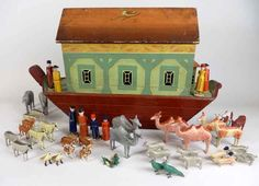 The 19th century German painted wood Noah's ark with close to 200 figures sold for £7200 at Brightwells.