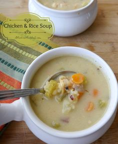 Creamy Chicken & Rice Soup from @Liz M