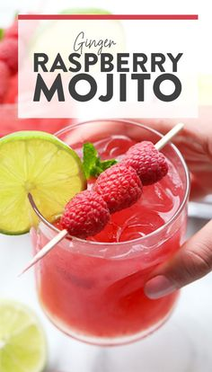 Looking for a refreshing cocktail to serve this summer? Look no further! Make this Ginger Raspberry Mojito, made with a homemade honey ginger simple syrup.