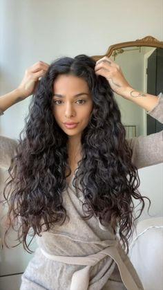 Wavy Hair Tips, Loose Curly Hair, Curly Hair Routine, Curly Hair Care, Curly Girl, Curly Hair Styles, Hair Today Gone Tomorrow, Curly Hair Tutorial, Waves Curls