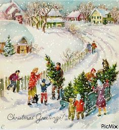 Indoor and Outdoor Christmas Decorations Vintage Christmas Images, Retro Christmas, Vintage Holiday, Outdoor Christmas, Christmas Pictures, Vintage Images, Old Time Christmas, Old Fashioned Christmas, Christmas Scenes