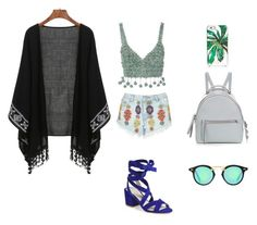 """""""Bohemian"""" by cheekybonbons on Polyvore featuring Rosie Assoulin, Lipsy, Fendi, Kate Spade, boho and Bohemian"""