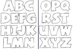 Molde de letras para imprimir y recortar - Imagui