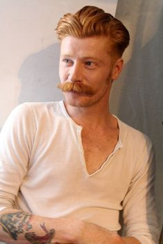 I don't know who this is, but I think I want to make babies with him. LOOKIT THE AWESOME MOUSTACHE!!!!!