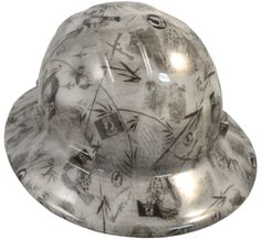 fe5d8f4aea2572 FULL BRIM-GLOW IN THE DARK- Hydro-Dipped Hard Hat-Ratchet Suspension - POW