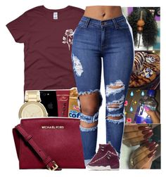 A fashion look from December 2017 featuring red shirt, skinny jeans and retro home decor. Browse and shop related looks. Teenage Girl Outfits, Cute Outfits For School, Teenager Outfits, College Outfits, Dope Swag Outfits, Trendy Outfits, Girly Outfits, Burgundy Outfit, Teen Fashion