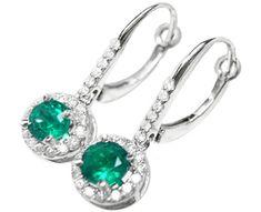 Affordable emerald earrings