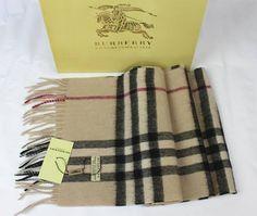 Burberry Nova Check Cashmere classic Scarf NIB 35 X 170 cm Fashion Scarves, Scarf Styles, Plaid Scarf, Burberry, Russia, Cashmere, Classic, Derby, Cashmere Wool