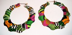 Afrocentric tribal print earrings