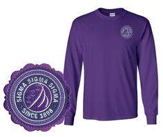 Sigma Sigma Sigma Patch Seal Long Sleeve T-Shirt from GreekGear.com