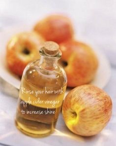 Use apple cider vinegar to give your hair shine