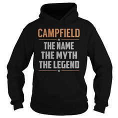 I Love CAMPFIELD The Myth, Legend - Last Name, Surname T-Shirt T shirts