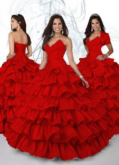 Red Quinceanera Dresses,2012 Romantic Ball gown Sweetheart Floor-length Quinceanera Dresses Style 80079,discount designer quinceanera ball gowns,Fabric: Satin Face Taffeta Color: Silver, Fuchsia Silhouette:Ball gown Neckline:Sweetheart Train:Floor-length Sleeves:Sleeveless Back:Lace up