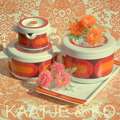 Sooo seventies!! Check www.kaatje-en-ko.com  #vintage #arzberg #arzberg3000 #seventies #vintageshop