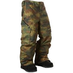 camo Analog snowboard pants