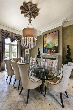 This Room Was Desighed By PoshInteriors. I Absolutely Luv The Chandelier.  Pinned By Vicki Visel Florido