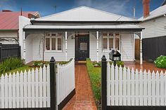 Sold 146 Rossmoyne Street, Thornbury VIC 3071 on 28 Sep 2016 - 2013010567 Victorian Homes Exterior, Weatherboard House, Outdoor Rooms, Outdoor Decor, Sep 2016, Character Home, Victorian Cottage, House Colors, My Dream Home