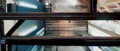 Dachbalken Konstruktion über Betonküche