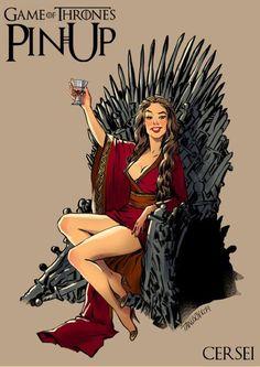 Personagens de Game of Thrones ilustradas como Pin up, Andrew Tarusov, Rússia