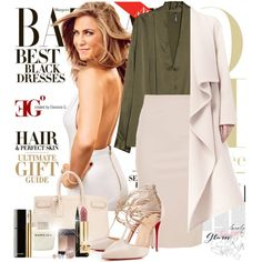 Bazaar Refined by eleonoragocevska on Polyvore featuring polyvore fashion style MANGO Chloé Maiocci Christian Louboutin Yves Saint Laurent Amour BERRICLE NARS Cosmetics Chanel