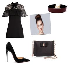 """Byxe fashion"" by lydia-johnson-i on Polyvore featuring self-portrait, Christian Louboutin, Ted Baker and Vanessa Mooney"