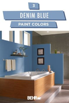 A number of people think that they are not able to do home improvement without outside help. People often fail when they are always tackling home improvement Blue Paint Colors, Blue Colour Palette, Home Improvement Cast, Home Improvement Projects, Blue Rooms, Blue Walls, Soho, Blue Denim, Washed Denim