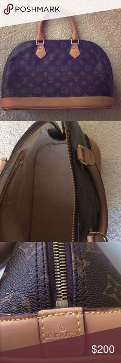 Louis Vuitton Purchased last year online for 800, I own 2 other Vuitton bags and looked real. Purchased another bag so I took it to pawn shop only to find out it isn't. Pawn shop owner said it is EXACT to an authentic purse except that the date code isn't . Interior needs to be cleaned and exterior has a cuff which is not deep just a bit dark .*picfured Coach Bags Satchels