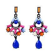 Fashion earring design gemstone drop colorful... – USD $ 4.99