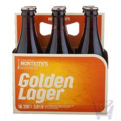 Golden Lager 330 ml – Monteith's X 6 Bottles | Shop New Zealand