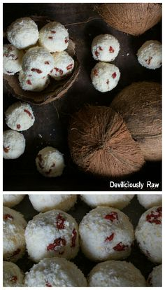 Raw, Vegan Fragrant Goji Berry Bliss Balls by Deviliciously Raw. Gluten and Nut-free recipe