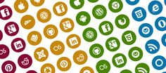 Social Media Icon set - customize both graphic and background with your own HTML color codes.