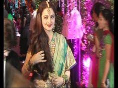 Rekha @ Ahana Deol's wedding reception.