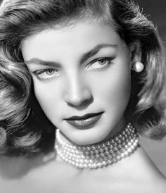 "This is Lauren Bacall at age 24, in 1948 - Karen occasionally ran into a woman she didn't know very well, and finally said to this woman, ""Has anyone ever told you that you look exactly like Lauren Bacall?"" and the woman smiled happily and said, ""Yes, but not in a very long time, thank you so much!"""