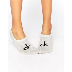Calvin Klein Retro Logo Liner Socks (3.965 KWD) ❤ liked on Polyvore featuring intimates, hosiery, socks, grey, logo socks, calvin klein hosiery, calvin klein lingerie, lingerie socks and calvin klein