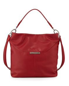 Le Foulonne Leather Hobo Bag, Vermillion by Longchamp at Neiman Marcus.